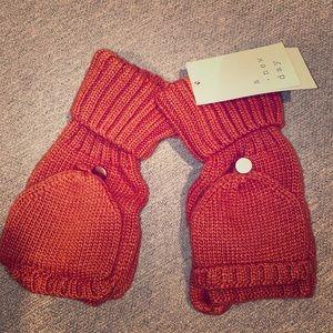 Rust Orange Flip Top Gloves - NWT